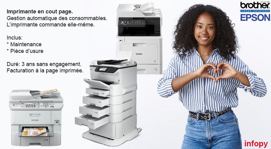 imprimante cout page avec maintenance