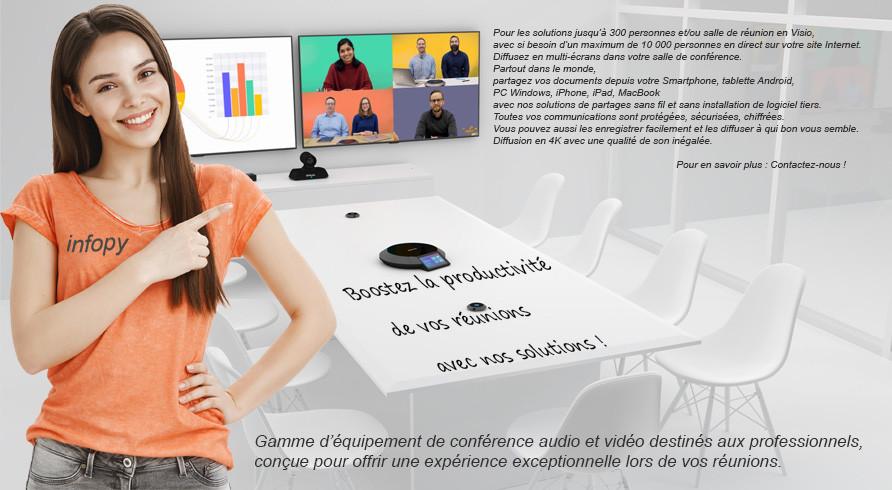 équipement pour salle de visioconférence